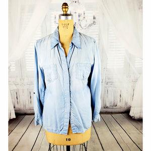 tribal jeans denim button down